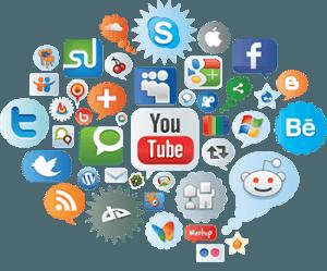 nuage de réseaux sociaux
